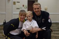 Shihan Jimmy Steager , His Wife and the next generation Jimmy Jr